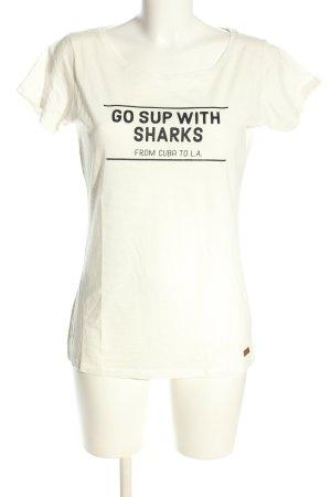 Protest T-shirt imprimé blanc-noir lettrage imprimé style décontracté