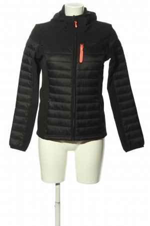 Protest Sportjacke schwarz Steppmuster Casual-Look