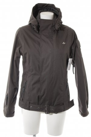 Protest Sportjacke graubraun Karomuster Casual-Look