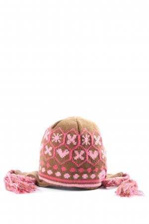 Protest Lapland Hat brown-pink casual look