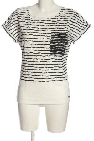 Protest T-shirt blanc motif rayé style décontracté