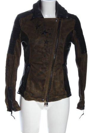 proud Between-Seasons Jacket brown-black allover print casual look