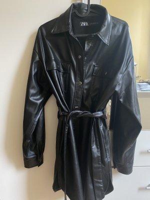 Zara Chemise en cuir noir