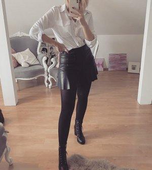 SheIn Skórzane spodnie czarny