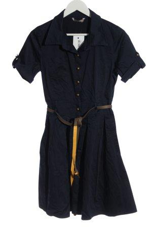 puane Robe chemise bleu style décontracté