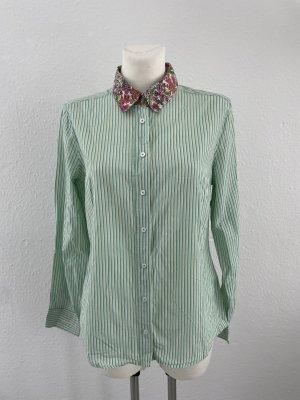 Public Bluse grün weiß gestreift gr 36