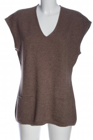 Public Cashmere Jumper brown flecked casual look