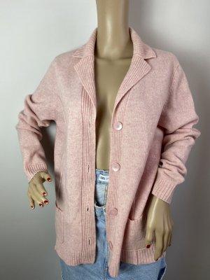 Public Sweter oversize jasny różowy Tkanina z mieszanych włókien