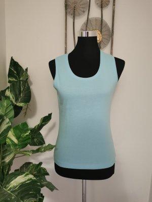 Public Damen Tanktop Achselshirt Basic Top hellblau Shirt Größe 38