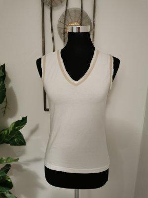 Public Damen Tanktop Achselshirt Basic Top weiß beige Größe 38