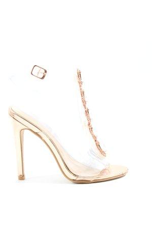 Public Desire High Heel Sandaletten goldfarben Casual-Look