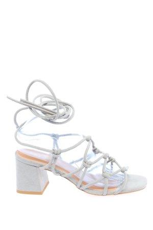 Public Desire High Heel Sandaletten hellgrau Elegant