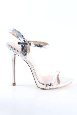 Public Desire High Heel Sandaletten silberfarben Casual-Look