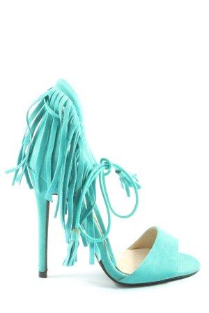Public Desire High Heel Sandaletten türkis Elegant