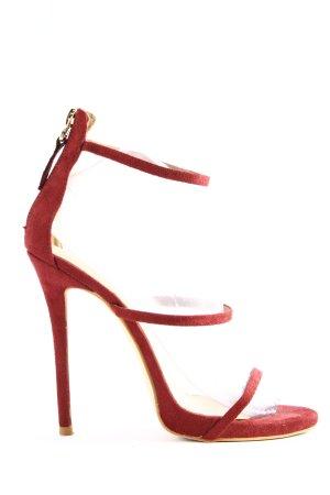 Public Desire High Heel Sandaletten rot Casual-Look