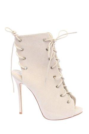 Public Desire High Heel Sandaletten wollweiß extravaganter Stil