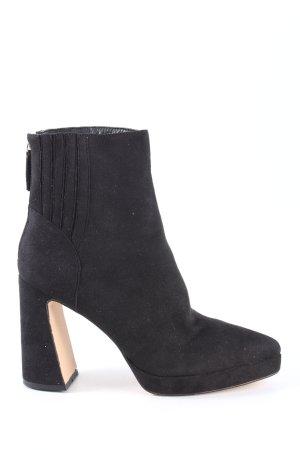 Public Desire Wysokie buty na obcasie czarny W stylu casual