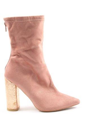 Public Desire Reißverschluss-Stiefeletten pink-creme Casual-Look