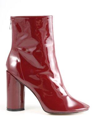 Public Desire Reißverschluss-Stiefeletten rot Elegant