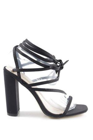 Public Desire Riemchen-Sandaletten schwarz Elegant