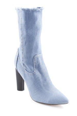 Public Desire Stivaletto arricciato blu acciaio-nero stile casual