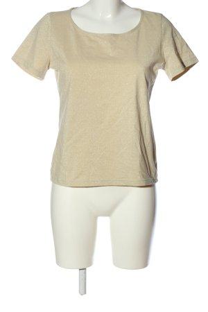 Public Blusa brillante bianco sporco puntinato stile casual