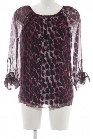 Public Langarm-Bluse Leomuster Casual-Look