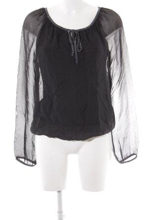 Public Langarm-Bluse schwarz Casual-Look