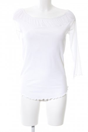 Public Langarm-Bluse weiß Casual-Look