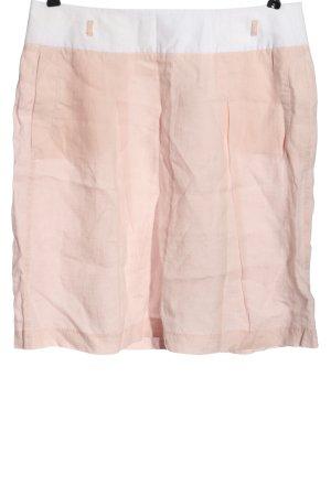 Public Gonna in lino rosa-bianco stile casual