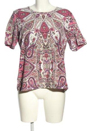 Public Print-Shirt pink abstraktes Muster Casual-Look