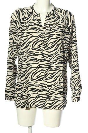 Public Schlupf-Bluse weiß-schwarz Animalmuster Casual-Look