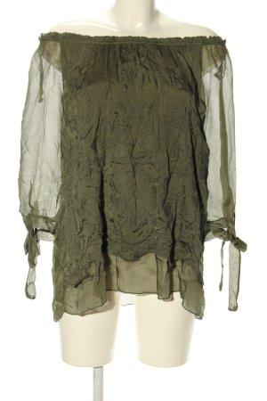 Public Schlupf-Bluse khaki Casual-Look