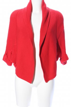 Public Strick Cardigan rot Casual-Look