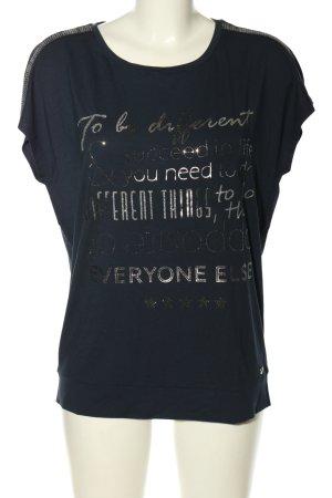 Public T-Shirt schwarz Schriftzug gedruckt Casual-Look