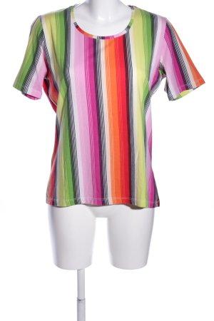 Public T-Shirt Streifenmuster Casual-Look
