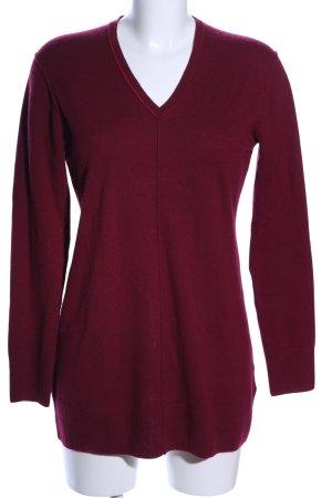 Public V-Ausschnitt-Pullover rot Casual-Look