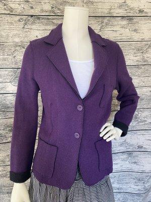 PUBLIC CLOTHING DESIGN Blazer in maglia viola scuro-lilla