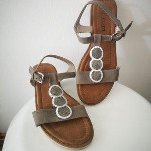 Puccetti Outdoor sandalen zilver-lichtbruin
