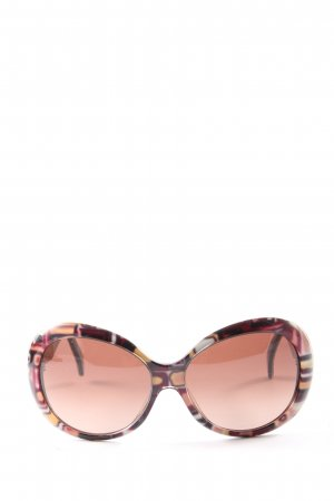 Pucci Ovale zonnebril roze-bruin abstract patroon casual uitstraling