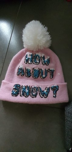 Bobble Hat white-pink