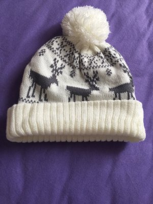 Bobble Hat natural white-grey