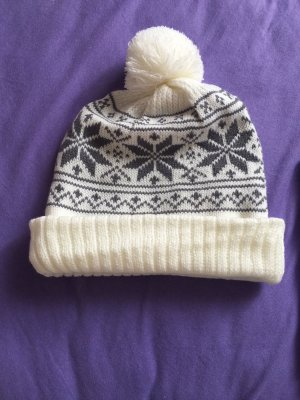 Bobble Hat grey-natural white