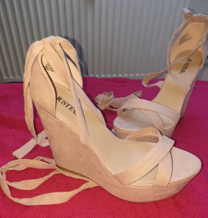 Puder Rosa High Heel Sandaletten