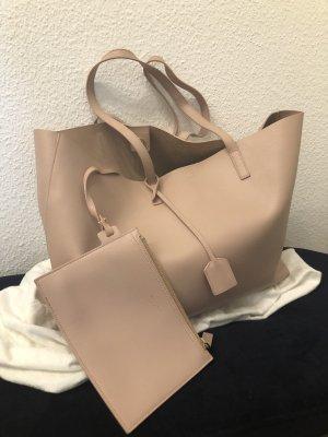 Saint Laurent Borsa shopper rosa antico-rosa pallido