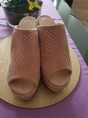Sandales à plateforme vieux rose