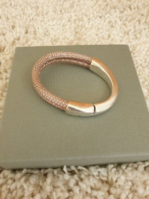 Bracelet en cuir rose chair