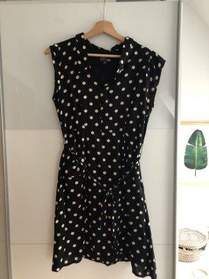 Yumi Letnia sukienka biały-czarny