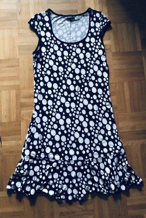 Boule Shortsleeve Dress black-white