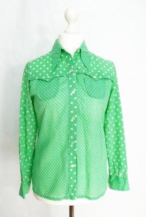 Pünktchenbluse Gr. M Bluse Vintage 70er